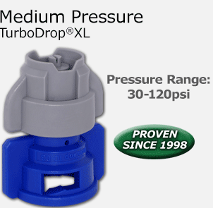 Medium Pressure TurboDrop®XL - Pressure Range: 30-120psi